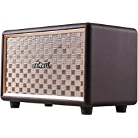 Computer Speaker with Bluetooth and 3.5mm AUX Input - 24W Output with Deep Bass - Retro Design with Volume Knob and Toggle Switch (Brown)
