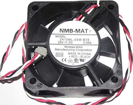 Amazon.com: 60x60x25mm 2410ML-05W-B39 24V 0.08A 3Wire 6cm cooler fan: Computers & Accessories