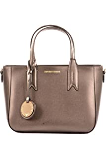 Emporio Armani Wilma Black Top Zip Day Bag Black Leather  Amazon.co ... d7d5947b96c34