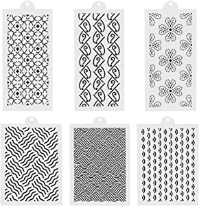 GoChes 6 Pcs Cake Decorating Stencils, Lace Floral Cake Templates Spray Cake Printing Molds, Food Grade Plastic Stencils for Cake Fondant Cookie Decorating Stencil Fondant Stencil