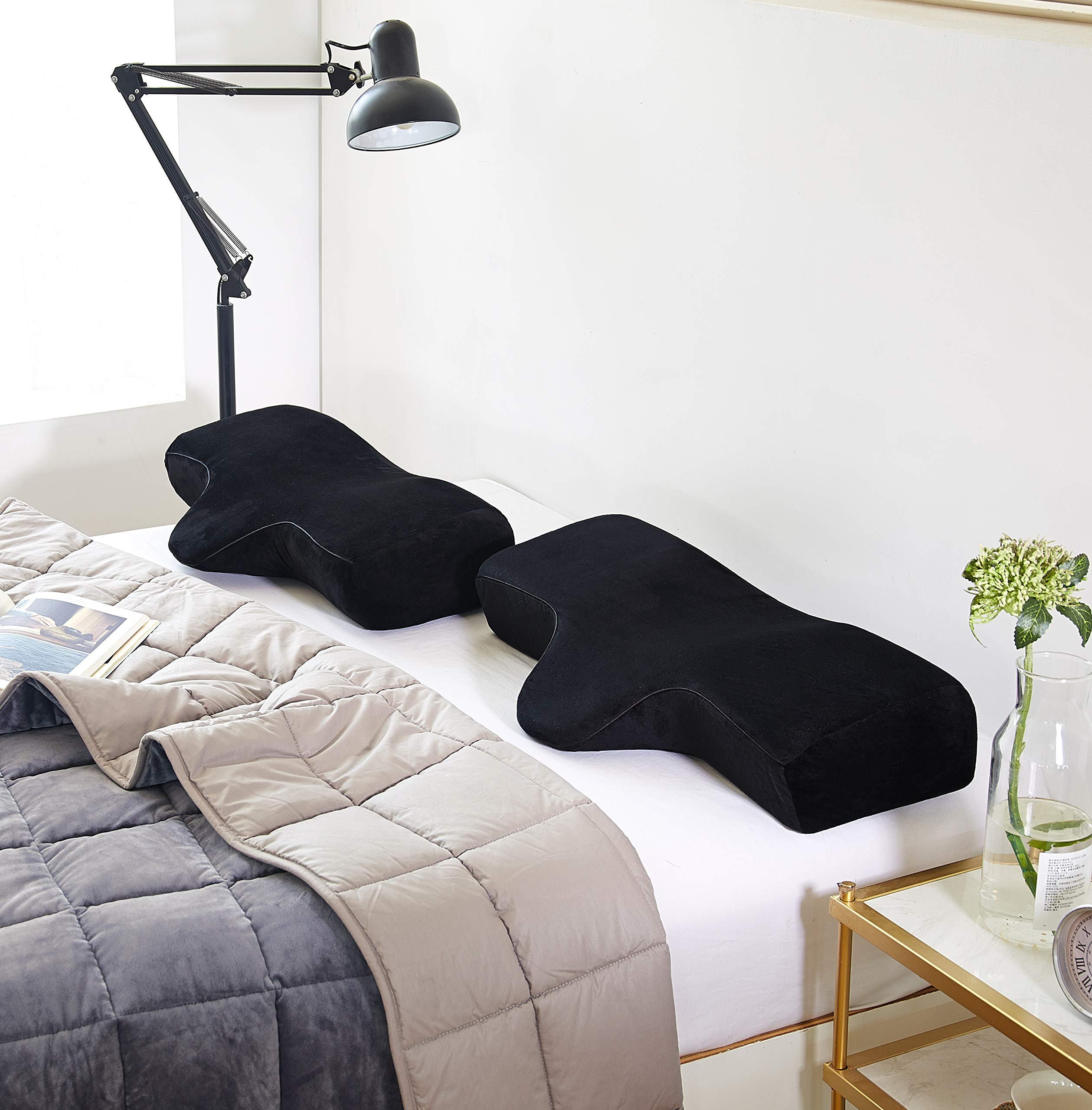 sweethome Jane Memory Foam Neck Pillow Eyelash Extension Ergonomic Curve Improve Cervical Pillows