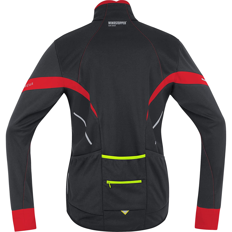 Amazon.com : GORE BIKE WEAR, Men´s, Road cyclist jacket, Fleeced, GORE WINDSTOPPER Soft Shell, POWER 2.0, Size XL, Black/Red, JWMPOW : Cycling Jackets ...