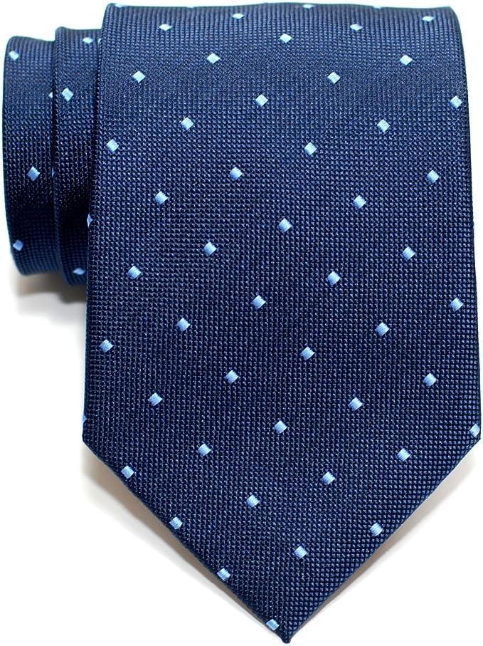 Retreez corbata para hombre, Retro, lunares cuadrados, tejida, corbata – varios colores azul azul marino Talla única: Amazon.es: Ropa y accesorios