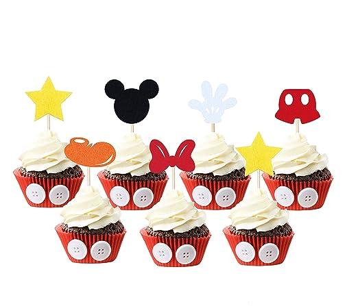 JAGGER M Decoración para Cupcakes Inspirada en Mickey Mouse ...