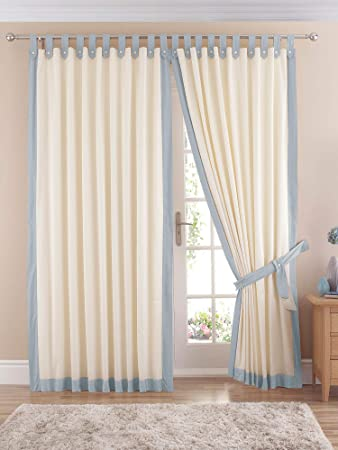 Claremont Tab Top Curtains In Light Blue. 46