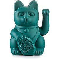 Lucky Cat - Waving Cat, Plastic, Green, ca. 15 x 10,5 cm