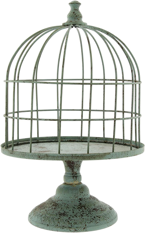 Distinctive Designs Faux Patina Metal Bird Cage Display Stand