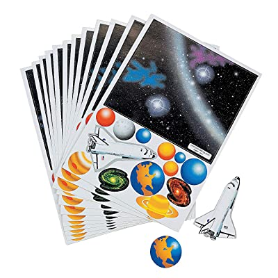 Fun Express Make Your Own Solar System Sticker(12Pc) - 12 Pieces - Educational and Learning Activities for Kids: Toys & Games