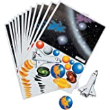 Fun Express Make Your Own Solar System Sticker(12Pc) - 12 Pieces - Educational and Learning Activities for Kids