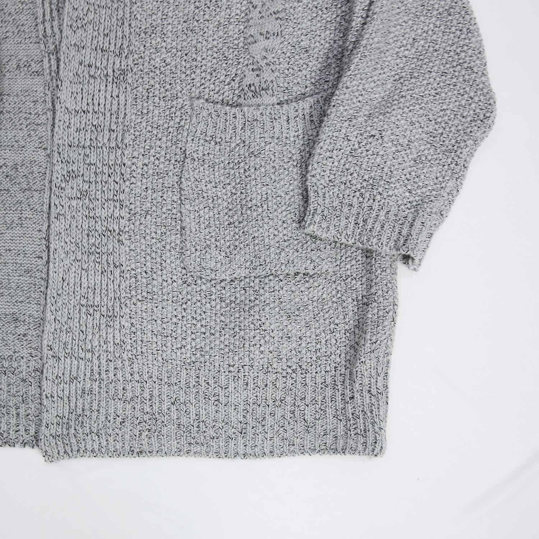 Futurino Women's Cable Twist School Wear Boyfriend Pocket Open Front Cardigan (One Size, Grey) by Futurino (Image #6)