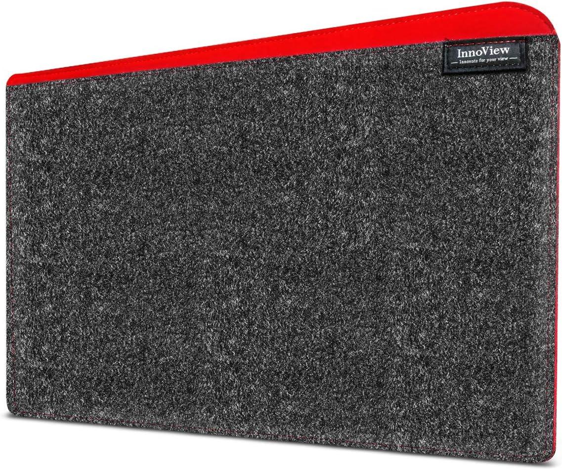 InnoView Felt Sleeve Storage Bag Laptop Sleeve Case Storage Bag, Felt Portable Notebook Tablet PC Case Protective Bag, Slim Envelope for Laptop Portable Monitor Case Dark Grey