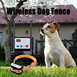 Hokita Dog Fence Wireless,Outdoor Electric Pet Containment System,with Waterproof and Rechargeable Training Collar Receiver D