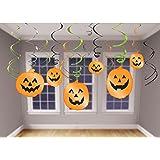 Amscan International 679467 Decoration Hanging Swirl Halloween Party Set