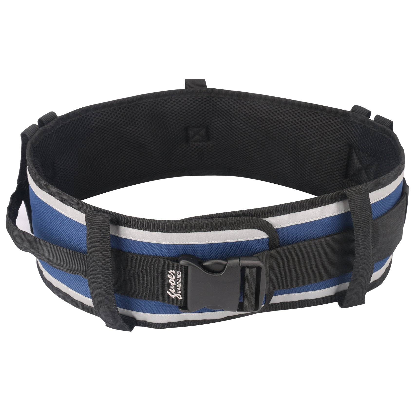 GUOER Tommhanes Transfer Belt Gait Belts Mobility Assistance Belt Multifunctional Nursing Belt One Szie Blue