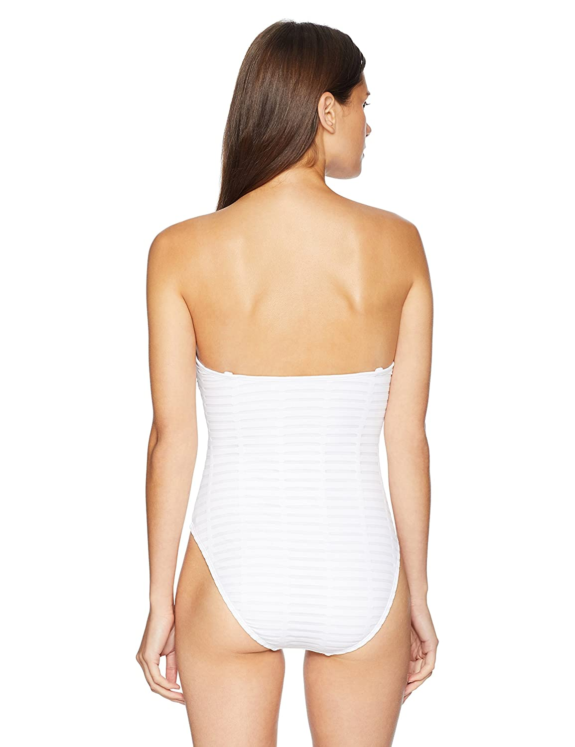 Kenneth Cole New York Womens Bandeau One Piece Swimsuit