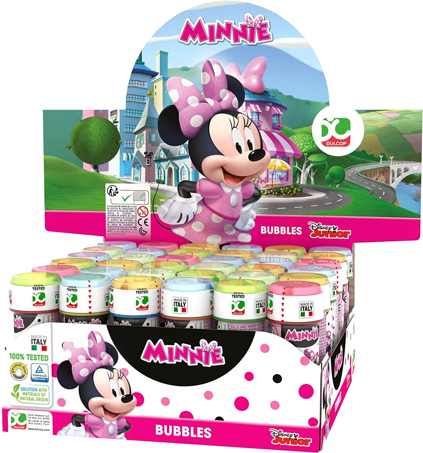 Disney - Minnie Mouse 36 Pomperos de 60 ml y juego (ColorBaby 23996)