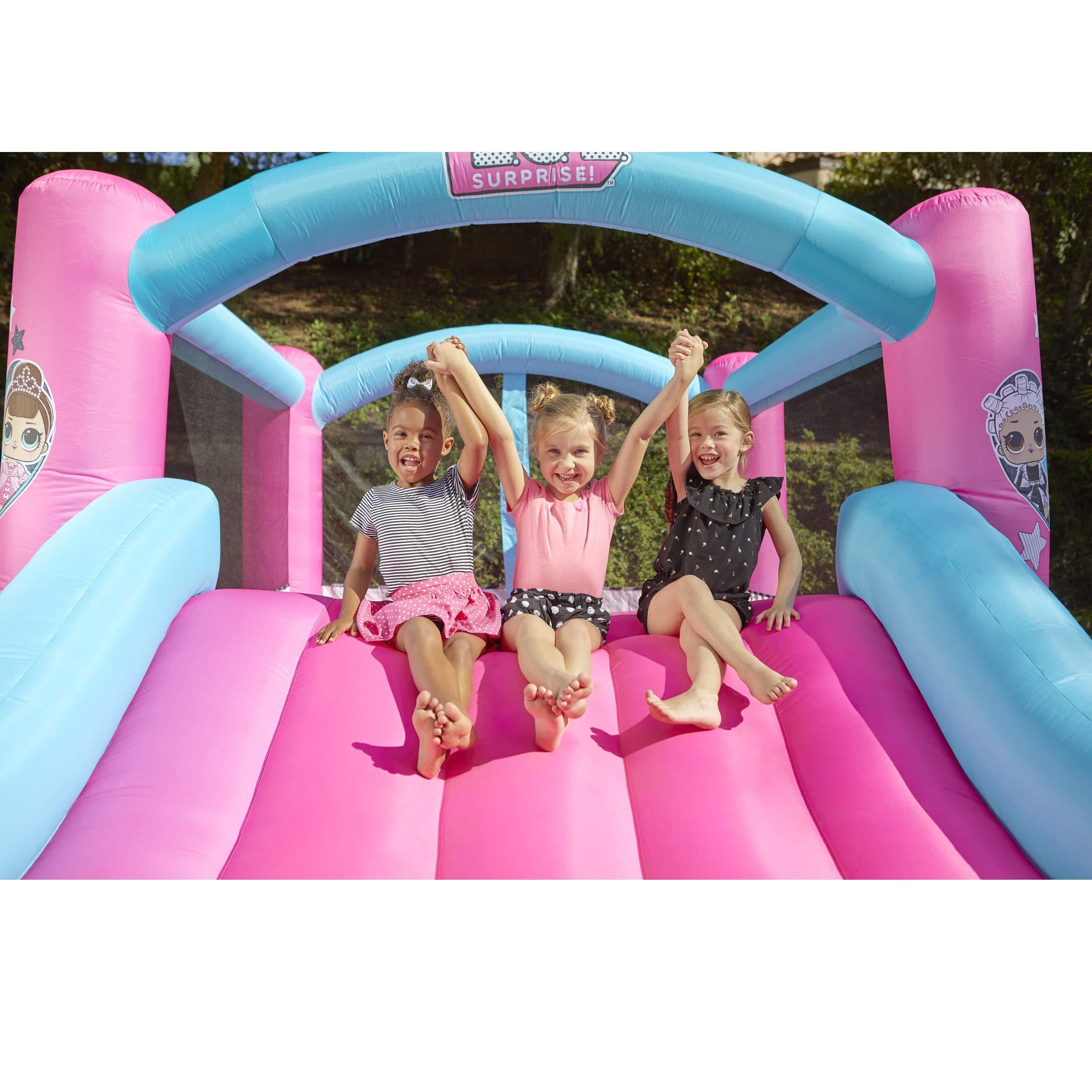 L.O.L. Surprise Jump 'n Slide Inflatable Bounce House with Blower by Little Tikes (Image #5)