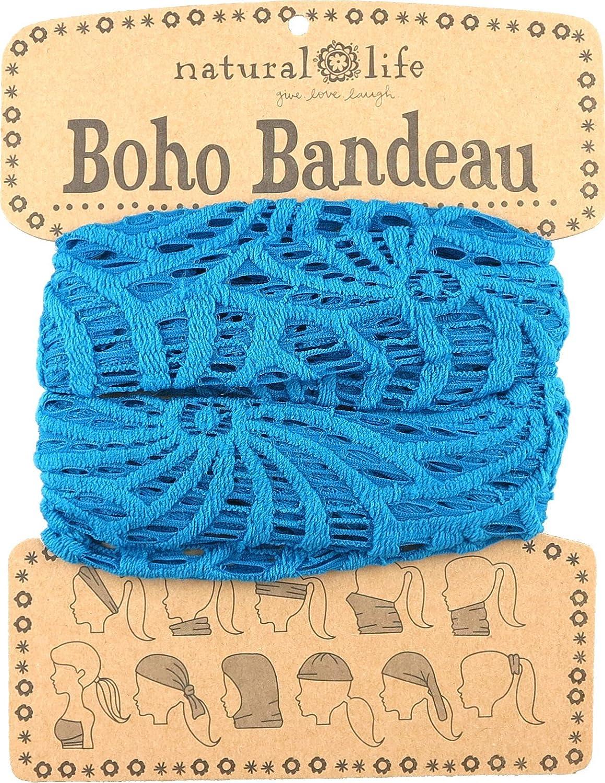 Natural Life Boho Bandeau de ganchillo Azul azul Talla única
