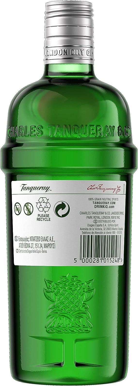 Tanqueray - London Dry Gin Ginebra inglesa, Pack con miniatura de Tanqueray Flor de Sevilla de regalo, 70 cl: Amazon.es: Alimentación y bebidas