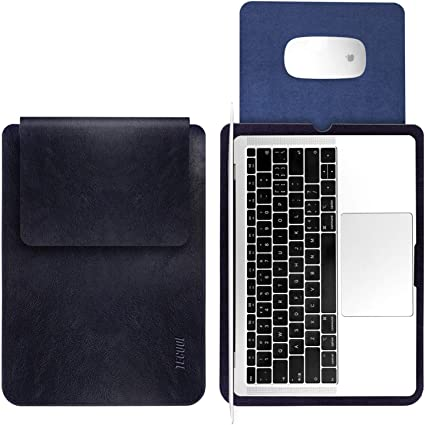 TECOOL Custodia PC Portatili 15 Pollici 2019 MacBook PRO 16 A2141 Grigio Borsa Laptop in Pelle Protettiva Cover Sleeve per 2012-2019 MacBook PRO 15 Retina A1990// A1707// A1398