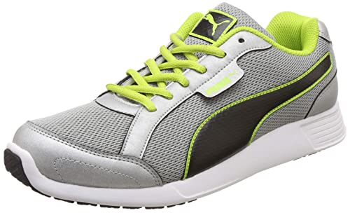 a44fe2dbfd3 Puma Men's Silver-Bright White-Limepunch Sneakers-6 UK/India (39 EU ...