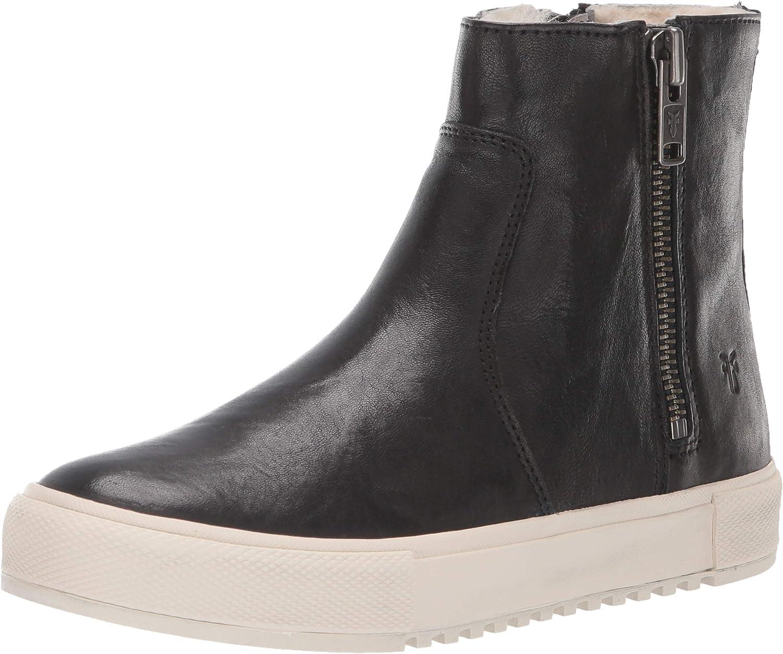 Gia Lug Shearling Double Zip Sneaker