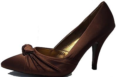 3-W-Hohenlimburg Edle Stiletto Pumps High Heels in Samt - Optik. Violett Grau Braun Orange Schwarz - Rot Oder...