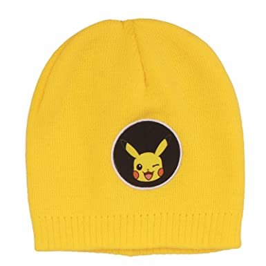 39bb55d8b3e Official Licensed Pokemon Pikachu Winter Yellow Beanie Hat Age 4-8 Years