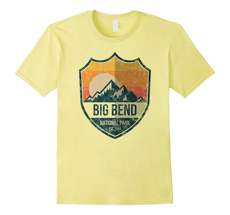Big Bend National Park T Shirt Retro Badge-Art