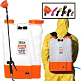 Petra 4 Gallon Battery Powered Backpack Sprayer – Extended Spray Time Long-Life Battery - New HD Wand Included, Wide…