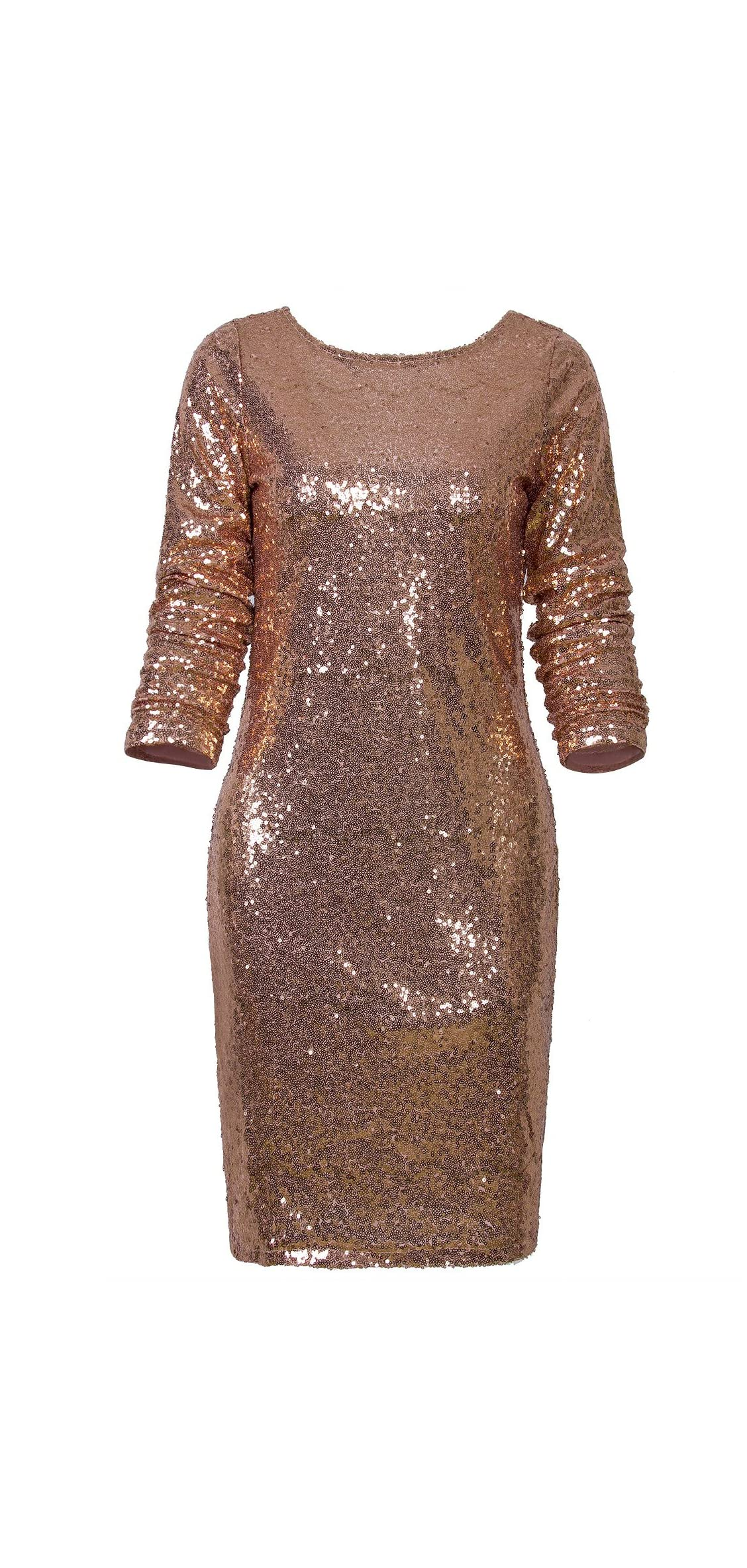 Women's Sparkle Glitzy Glam Sequin Long Sleeve Flapper