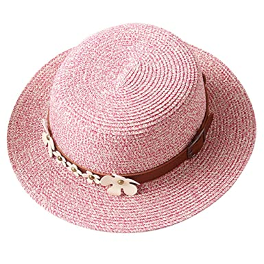 0dcb08f4 Aloiness Hat Straw Beachcomber Cheap UV Protection Beach Hats Straw Beach  Hats Fedora Trilby Hat for Fancy Dress Party Accessory: Amazon.co.uk:  Clothing