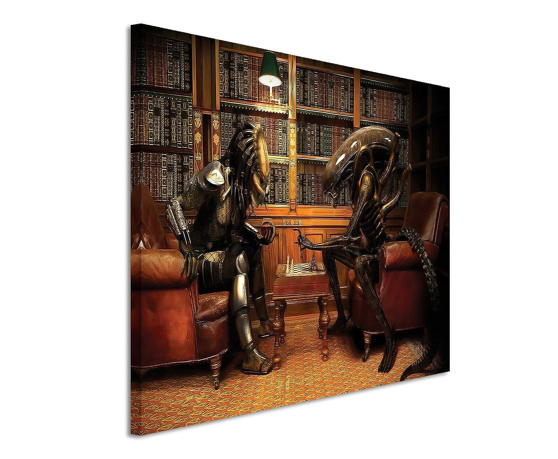 Alien vs Predator Playing Chess Wandbild 120x80cm XXL Bilder und ...