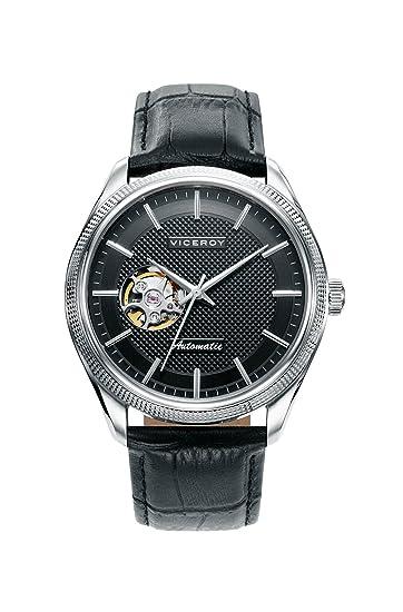 Viceroy Reloj Analogico para Hombre de Automático con Correa en Cuero 401071-57: Amazon.es: Relojes