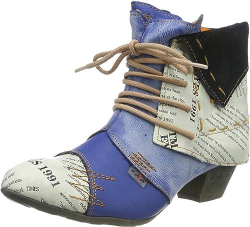 36-42 TMA Damen Stiefeletten Echtleder Comfort Boots TMA 6188 Leder Schuhe Gr