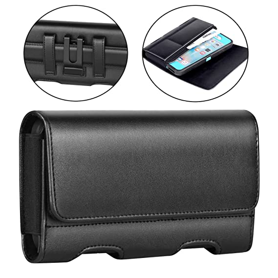 sports shoes abee5 6c304 BECPLT Galaxy Note 9 Holster Case, Premium Leather Galaxy Note 8 Belt Clip  Holster Pouch Carrying Sleeve with ID Card Holder for Samsung Galaxy Note  ...