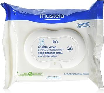 Toallitas Physiobebe Mustela limpieza facial, 25 ud: Amazon.es: Salud y cuidado personal
