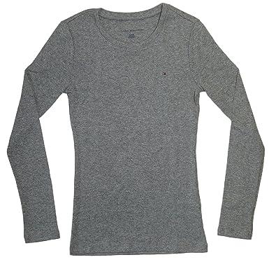 9c5d4cf772b4 Tommy Hilfiger Damen T-Shirt Gr. XXL, grau  Amazon.de  Bekleidung