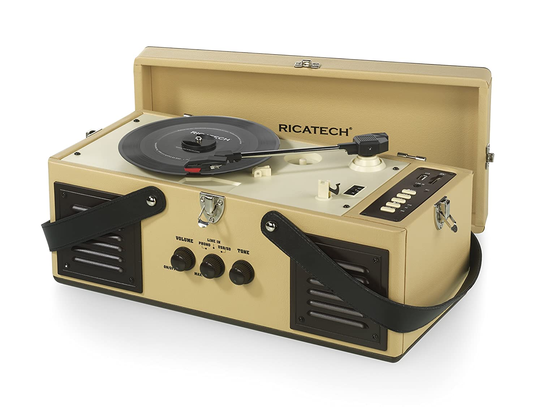 Ricatech rtt97 Vintage Turntable Tocadiscos con Puerto USB/SD de ...