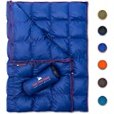 Get Out Gear Down Camping Blanket - Puffy, Packable, Lightweight and Warm | Ideal for Outdoors, Travel, Stadium…