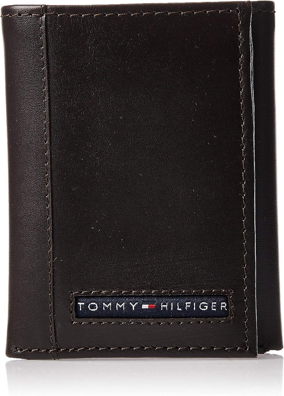 Tommy Hilfiger Logan Trifold–Cartera de piel Para Hombre -  Marrón -  talla única