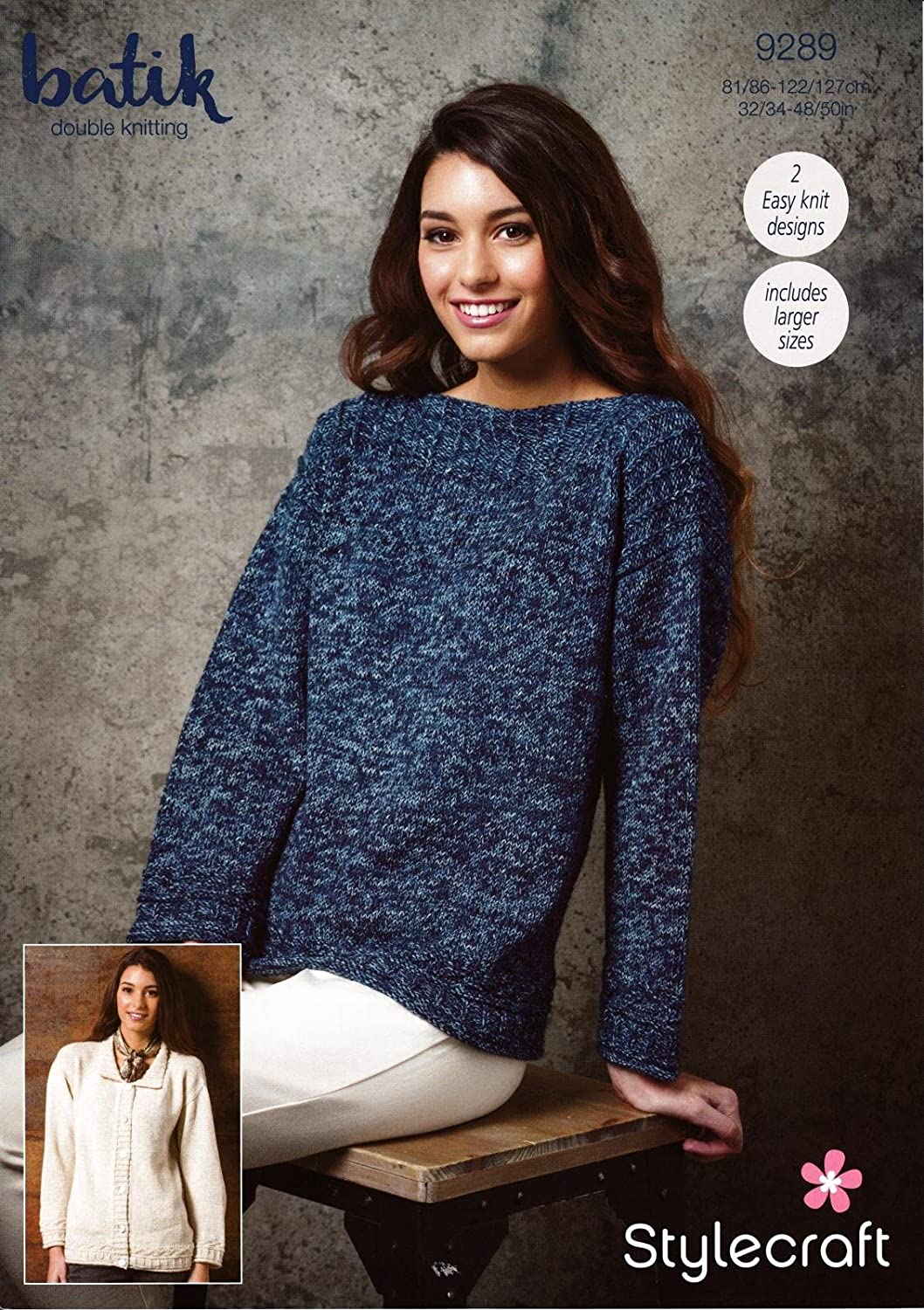 Stylecraft 9289 Knitting Pattern Womens Easy Knit Sweater And