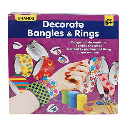 Decorate Bangles Rings Provided By Painting And Fixing Gems On