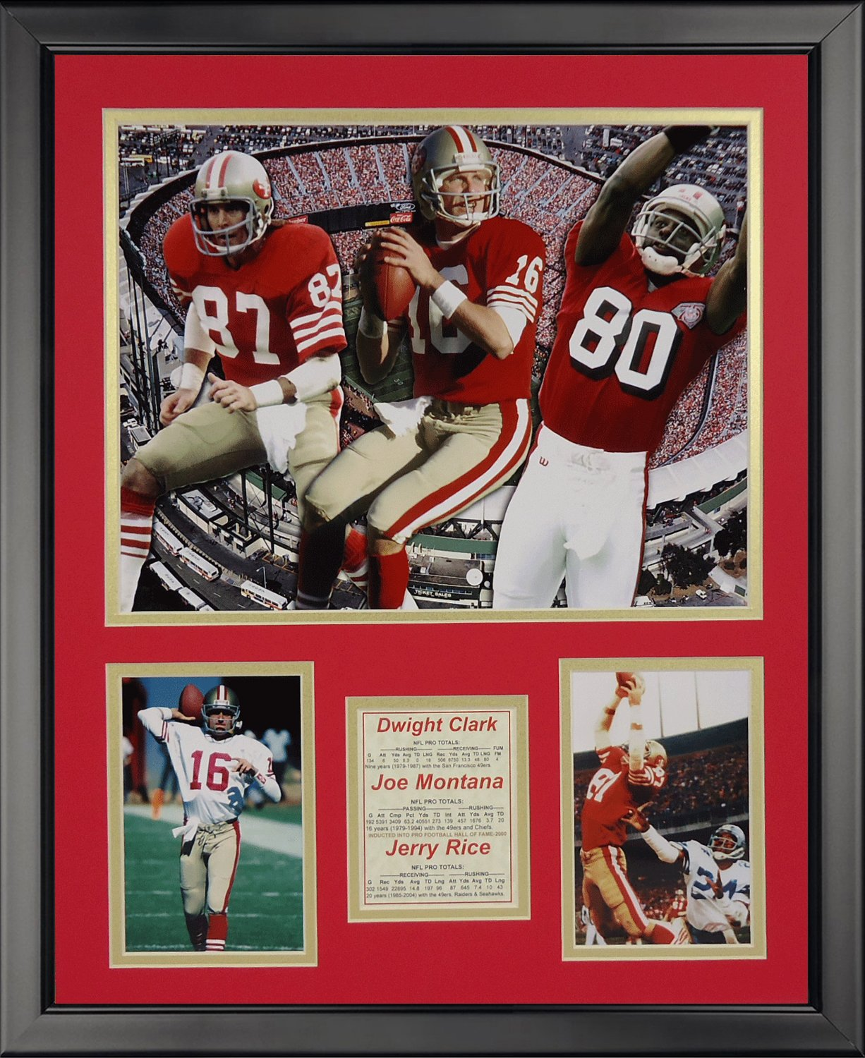 Legends Never Die San Francisco 49ers 1980s Big Three Framed Photo Collage, 16 x 20 16 x 20 19641A