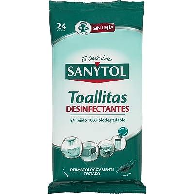 Sanytol - Toallitas desinfectantes Multisuperficies - 24 unidades, Pack de 3