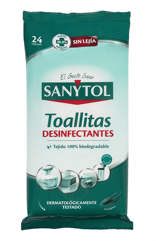 Sanytol - Toallitas desinfectantes Multisuperficies - 24 unidades ...