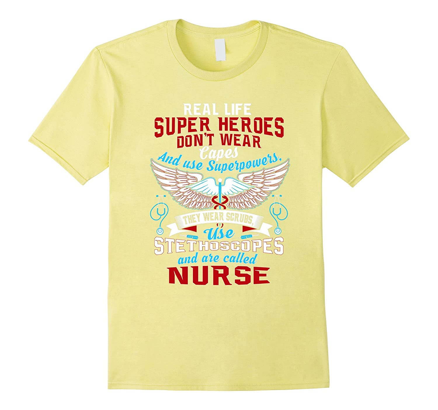 1dc1d5e6 Real Life Superheroes are Nurses Funny T-Shirt-TD – Teedep