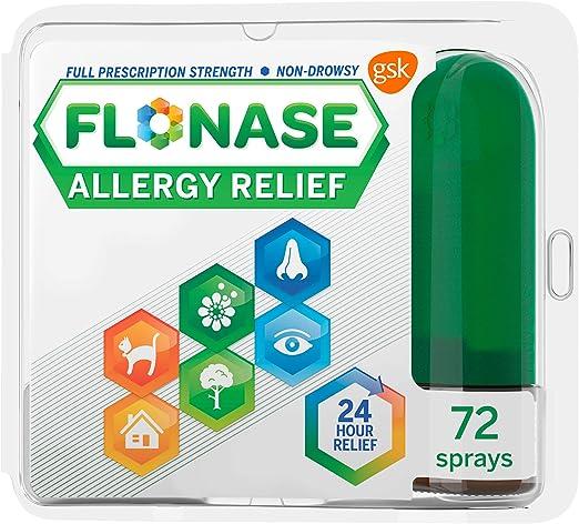 Amazon.com: Flonase Allergy Relief Nasal Spray, 24 Hour Non Drowsy Allergy Medicine, Metered Nasal Spray - 72 Sprays: Health & Personal Care