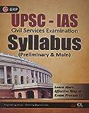 UPSC- IAS Syllabus(Preliminary and Main)