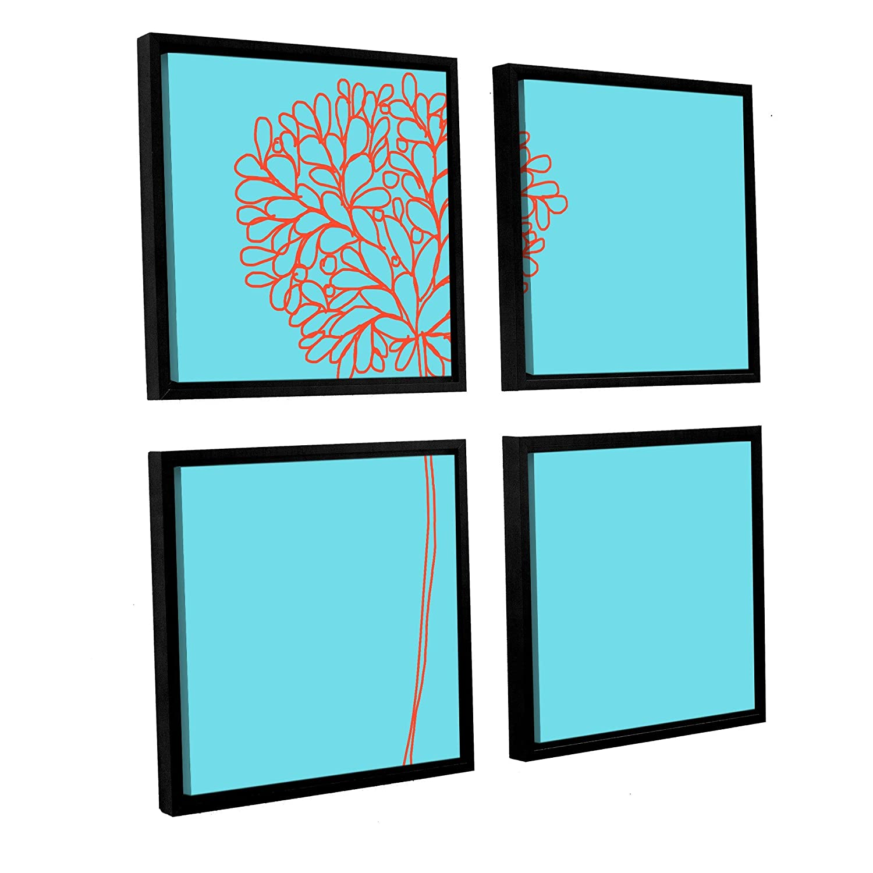 Square36 by 36 ArtWall Jan Weiss Standing Still 4-Piece Floater Framed Canvas Artwork